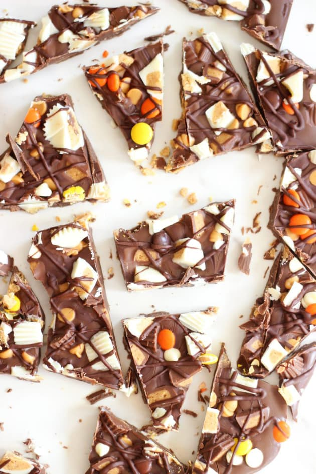 Triple Chocolate Ultimate Peanut Butter Cup Bark Pic