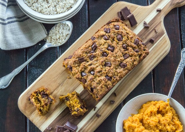Dark Chocolate Oatmeal Pumpkin Bread Photo