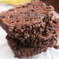 Double Chocolate Avocado Banana Bread Recipe