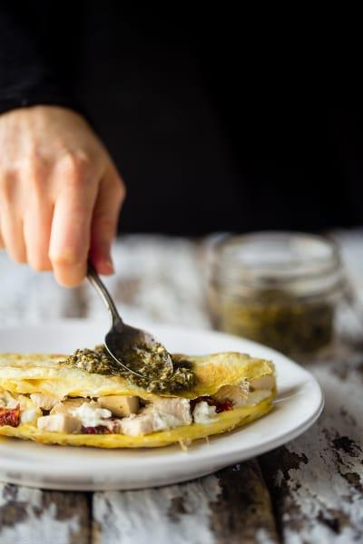 Pesto Omelet Image
