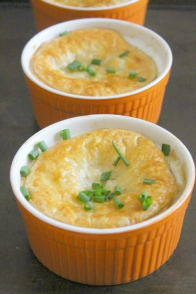 Leftover Turkey Puff Pastry Pot Pies Picture