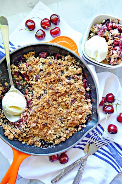 Dairy-Free Skillet Cherry Crisp Pic
