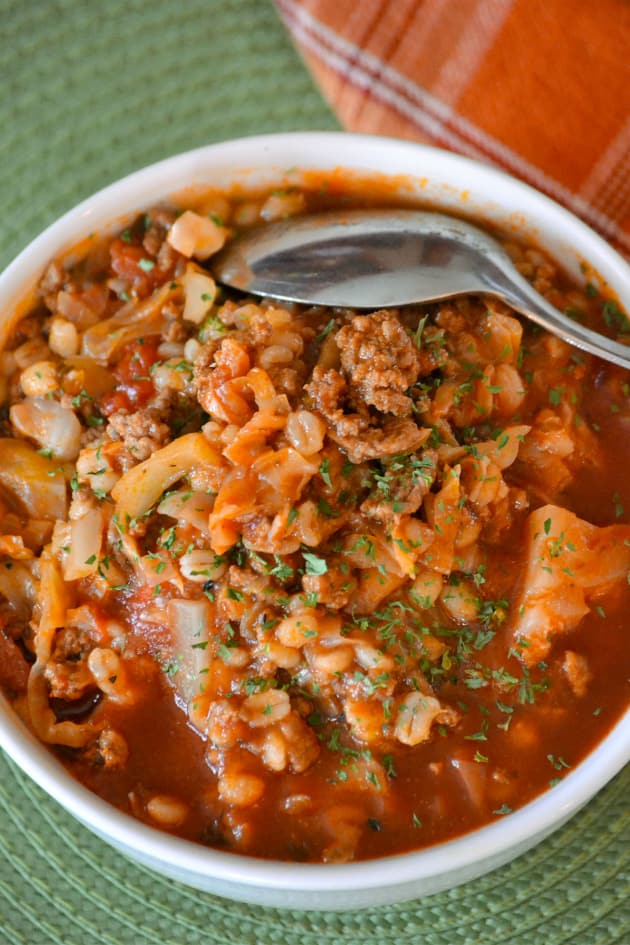 Stuffed Cabbage Soup with Barley Pic