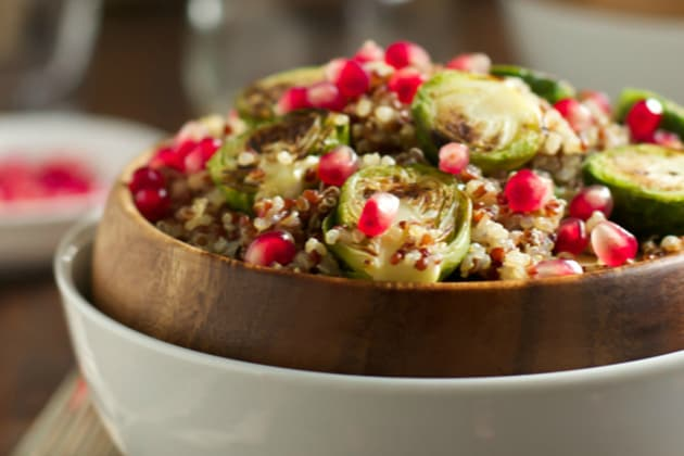Roasted Brussels Sprouts Quinoa Salad Photo