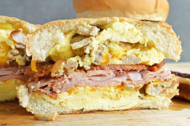 Breakfast Dagwood Sandwich Image