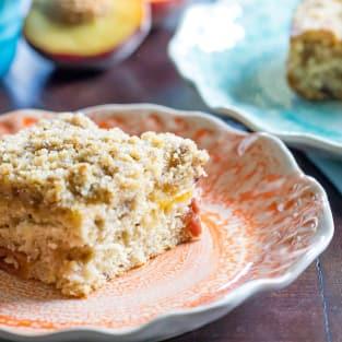 Peach coffee cake photo