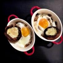 """Eggs en cocotte"". Breakfast, lunch or dinner covered!"