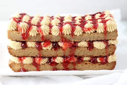 Peanut Butter & Jelly Torte