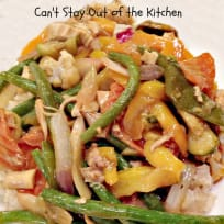 Chicken and Green Bean Stir Fry with Ginger Sesame Sauce