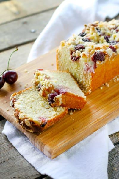 Cherry Cream Crumb Cake Picture