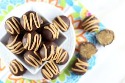 Chocolate Peanut Butter Cake Truffles