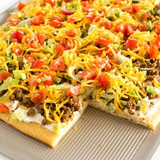 Taco pizza photo