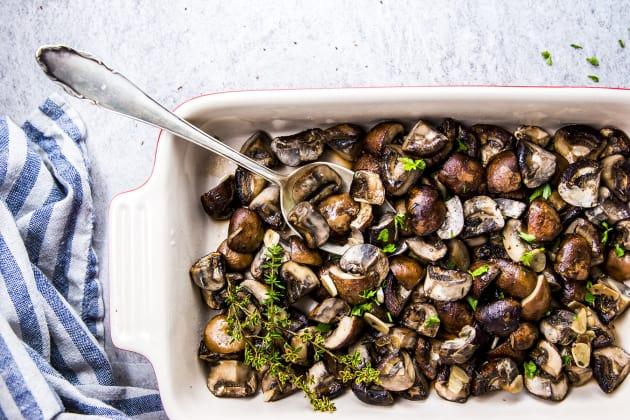 Garlic Butter Baked Mushrooms Photo