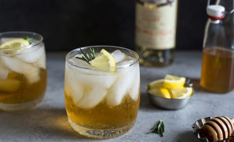 Lillet Spritzer with Honey and Rosemary Recipe