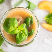 Basil Peach Agua Fresca Recipe