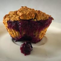 Coconut Muffins with Blueberries
