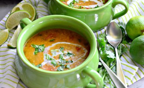 Instant Pot Coconut Curry Lentil Tomato Soup Photo