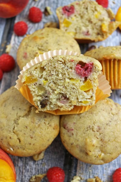 File 1 Gluten Free Nutty Vegan Peach Raspberry Muffins