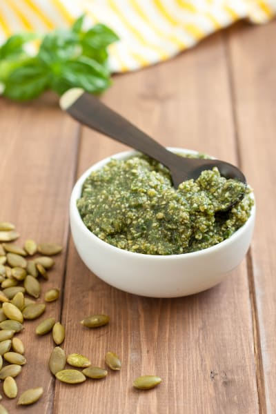 Gluten Free Pasta Salad with Pumpkin Seed Pesto Picture