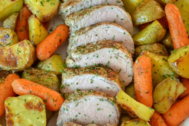 Rosemary Pork Tenderloin Sheet Pan Dinner Pic