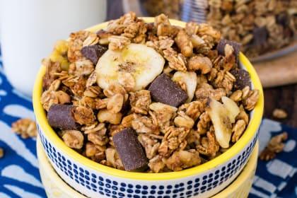 Peanut Butter Banana Chocolate Chunk Granola