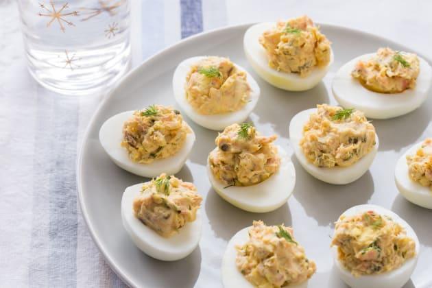 Smoked Salmon Deviled Eggs Photo
