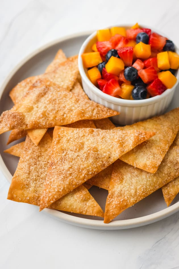 Cinnamon Baked Wonton Chips Picture