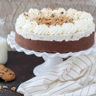 Chocolate chip mousse cake photo