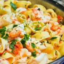 Shrimp Scampi Tortellini Recipe