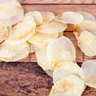 Homemade lays potato chips photo