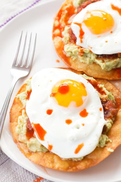 Breakfast Tostadas with Guacamole Picture