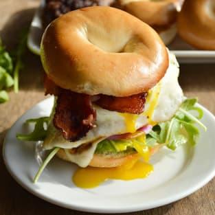 Breakfast burger photo
