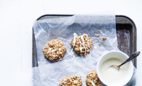No Bake White Chocolate Macadamia Cookies Image