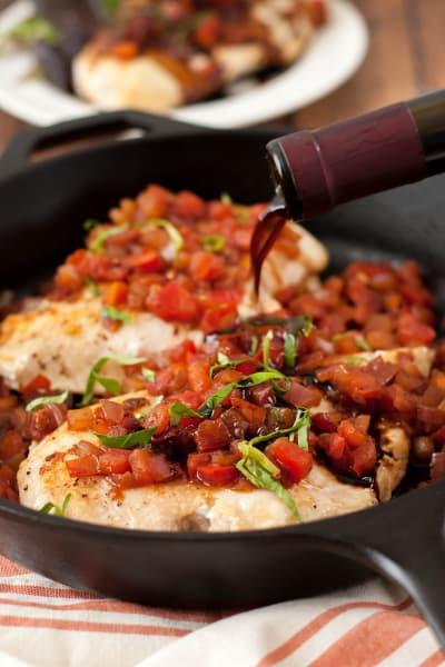 Bruschetta Chicken Skillet Picture