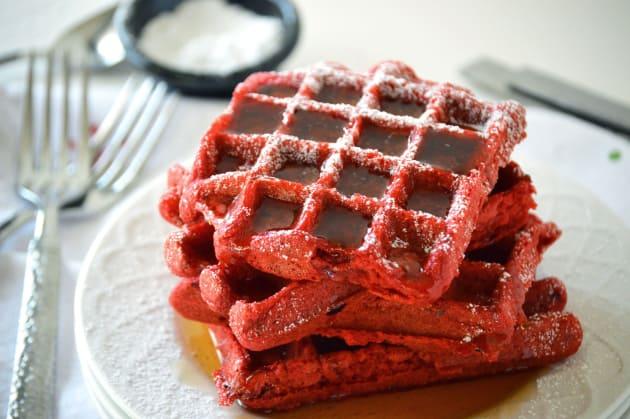 Red Velvet Waffles Photo