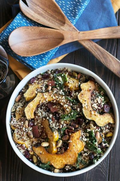 Harvest Acorn Squash Quinoa Salad Pic