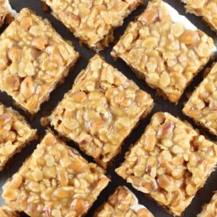 Peanut butter cookie rice krispie bars photo