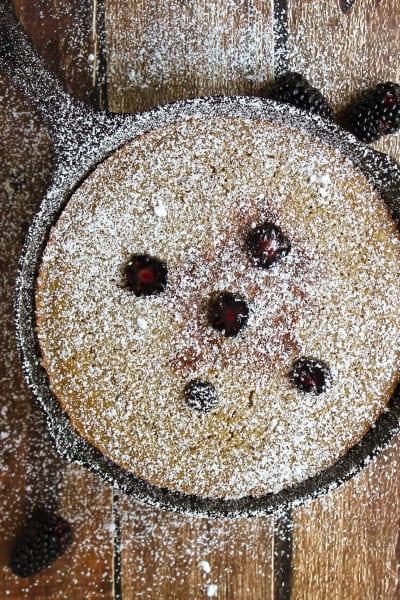 Gluten Free Skillet Blackberry Cake Picture