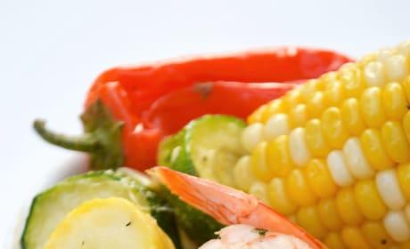 Sheet Pan Roasted Shrimp and Summer Vegetables Image