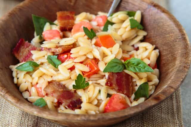 Bacon Tomato Pasta Salad Recipe
