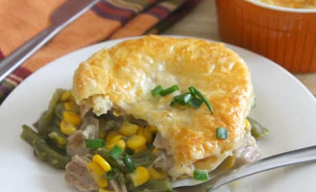 Leftover Turkey Puff Pastry Pot Pies Recipe