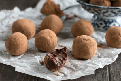Vegan Spicy Dark Chocolate Avocado Truffles