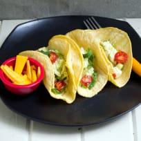 Scrambled Eggs and Avocado Breakfast Tacos Recipe