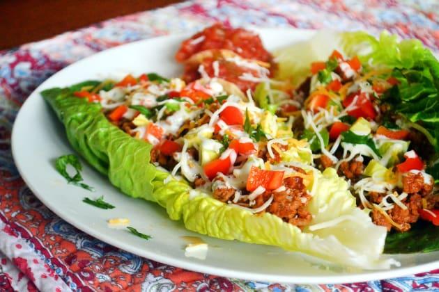 Taco Salad Boats Photo
