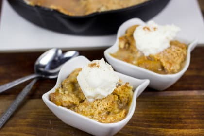 Cast Iron Peach Blueberry Cobbler