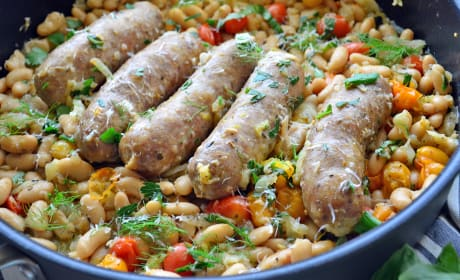Italian Sausage and White Beans Skillet Recipe