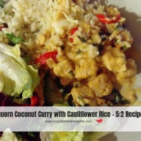 Quorn Coconut Curry with Cauliflower Rice - 5:2 Recipe