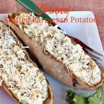 Skinny Stuffed Parmesan Potatoes