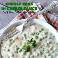 Creole Peas in Cheese Sauce