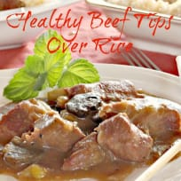 Healthy Beef Tips Over Rice